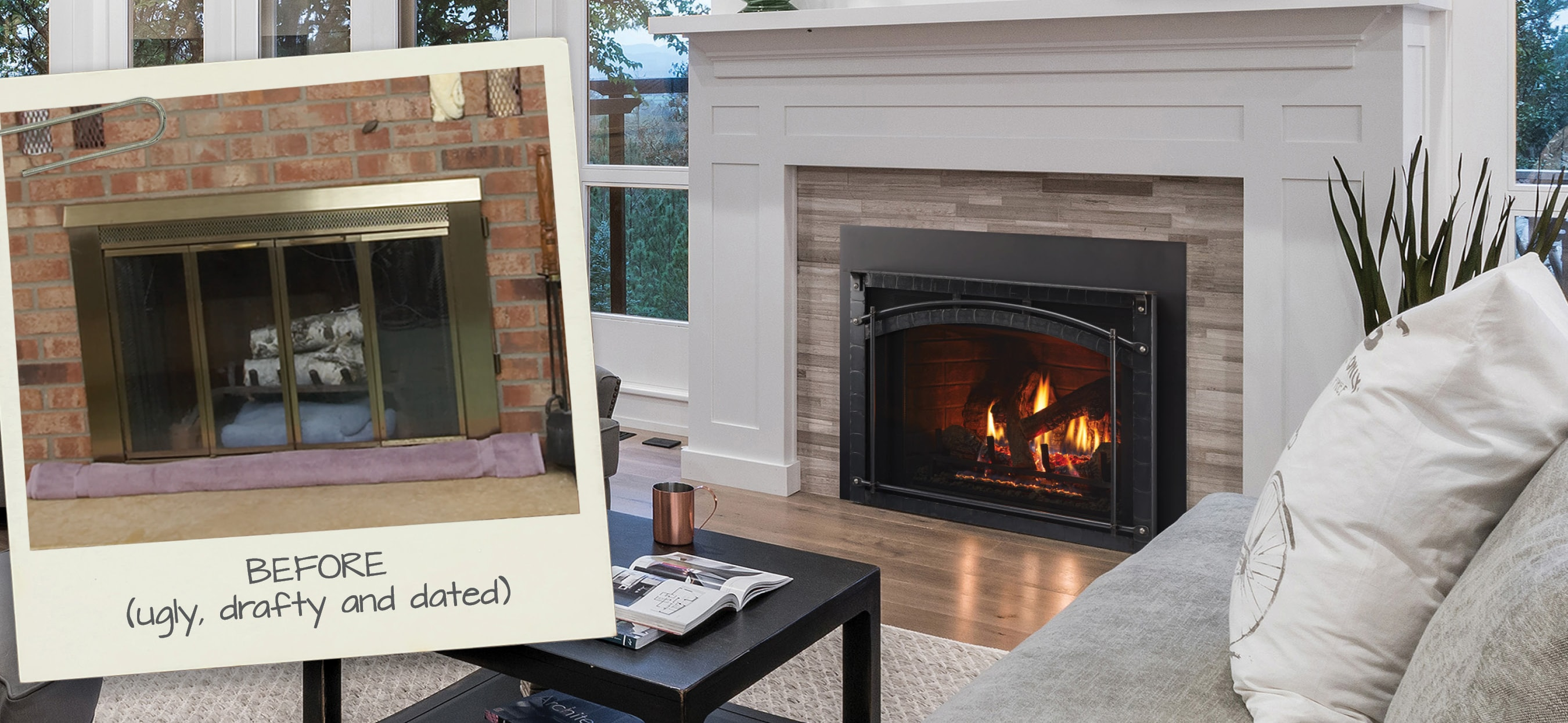 Say Bye Bye To Brass With A Fireplace Makeover Heat Glo
