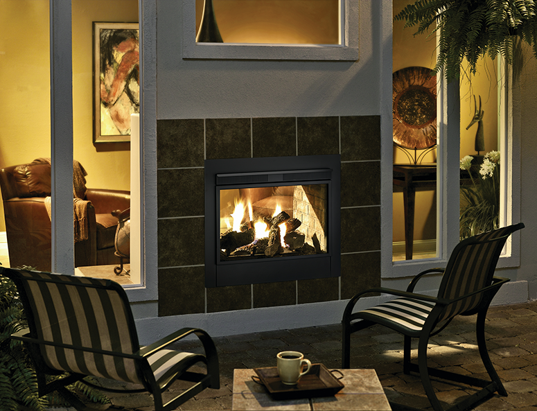 Check Out This Indoor Outdoor Fireplace