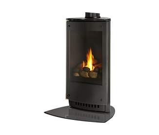 Black Stove, Bronze Glass and Hearth Pad