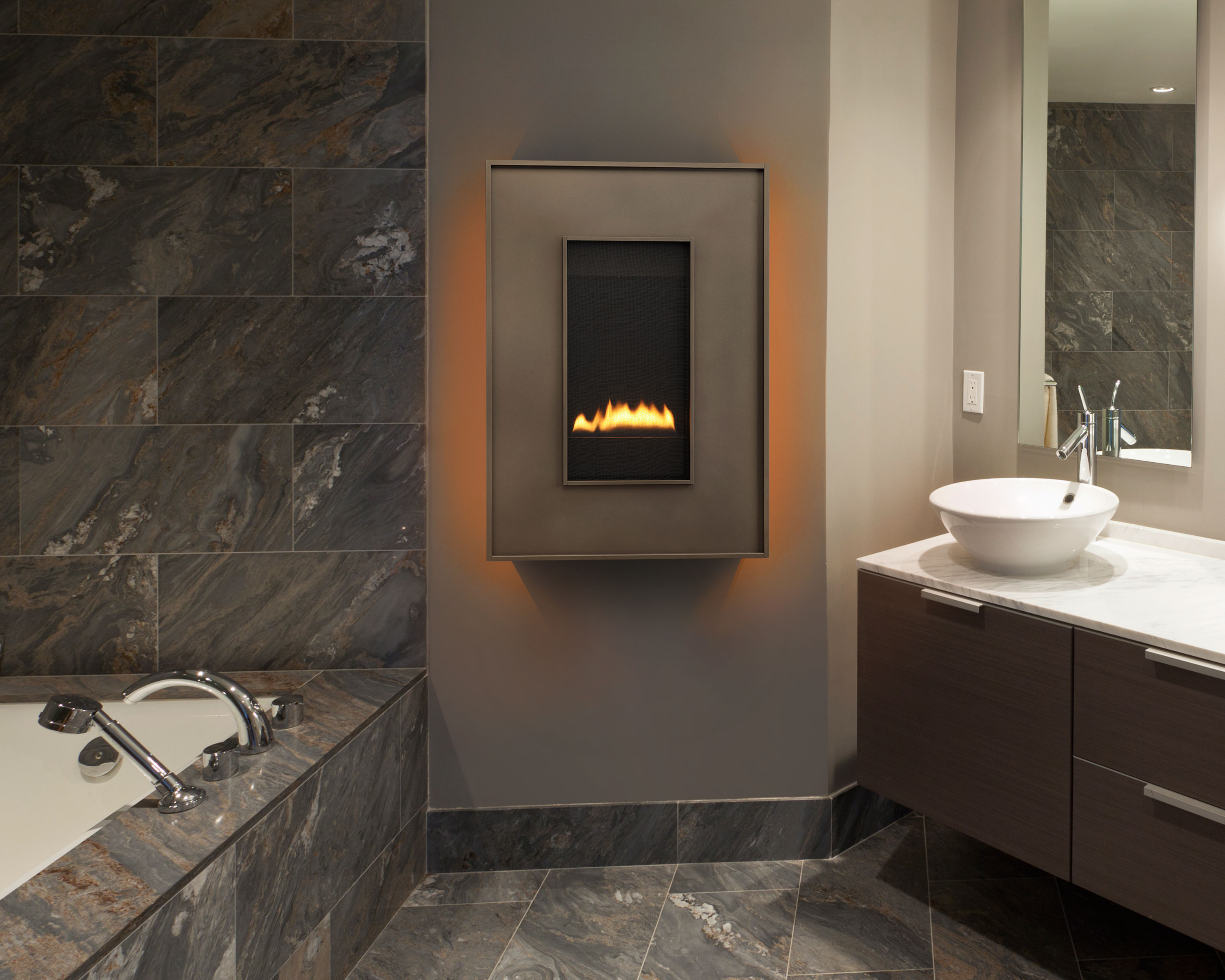 Revo Series Revolutionary Wall Hung Gas Fireplaces Heat Glo