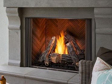 Courtyard Gas Fireplace Heat Glo