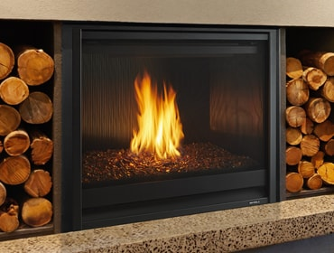 8000 Modern Gas Fireplace