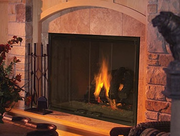 Exclaim Wood Fireplace